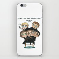 cyrilliart iPhone & iPod Skins featuring One Chair by Cyrilliart