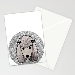 Poodle Dog Stationery Cards