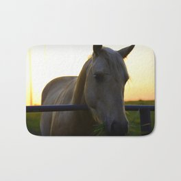 Beautiful Horse at Sunset Bath Mat