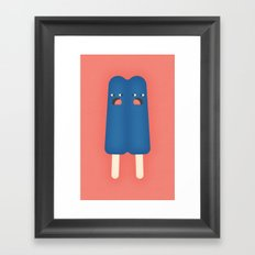 Double Popsicle Framed Art Print