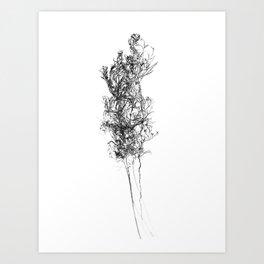 WABI SABI Dead Leaves. Art Print