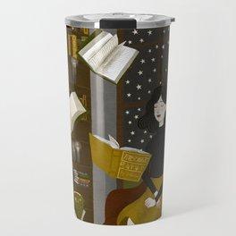 floating books Travel Mug