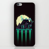 titan iPhone & iPod Skins featuring Moonlit Titan by badOdds