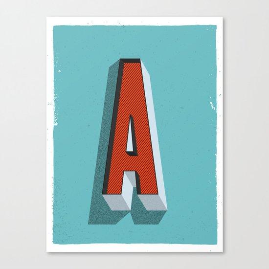 Letter A Canvas Print