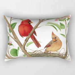 Northern Cardinals Rectangular Pillow