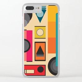 Modern Retro Design Clear iPhone Case