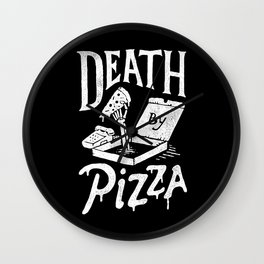 Death by Pizza Wall Clock