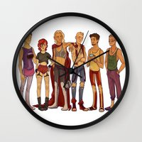 cargline Wall Clocks featuring dirty hipster au by cargline