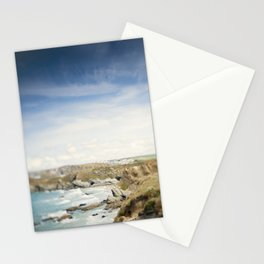 Tilt and Shift Views along the Newquay Coastline Stationery Cards