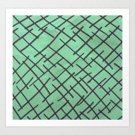 Crossed lines Art Print