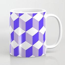 Diamond Repeating Pattern In Nebulas Blue and Grey Coffee Mug