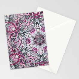 Gray and Pink Stationery Cards
