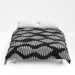 Sound wave pattern Comforters