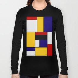 Mondrian De Stijl Art Movement Long Sleeve T-shirt