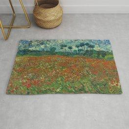 Vincent van Gogh - Poppy Field (1890) Rug