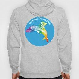 Keep the Ocean Blue_Rainbow Dolphin_B Hoody