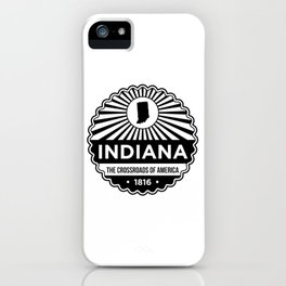 Indiana State Motto graphic - The Crossroads of America iPhone Case
