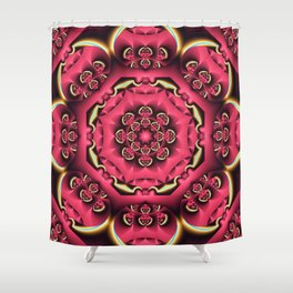 Fantasy flower kaleidoscope with optical effects Shower Curtain
