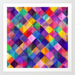 SQUARE--PATTERN Art Print