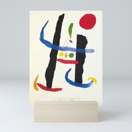 Classico joan miro the librairy of congress Mini Art Print
