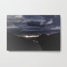 Horizon Lights Metal Print