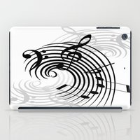 music notes iPad Cases featuring Music Notes by Svetlana Sewell