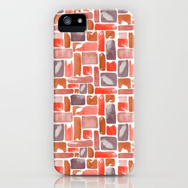 Watercolor Geometric Pattern iPhone Case