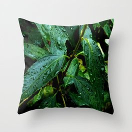 Greenery and leaf I Throw Pillow