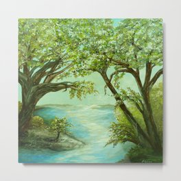 View from the River Bank Metal Print