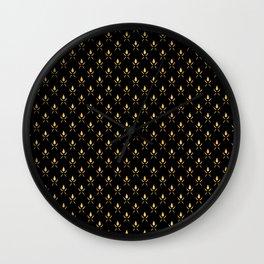 Art Deco Romantic Nights Pattern Wall Clock