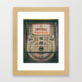 Skee Ball Game Framed Art Print