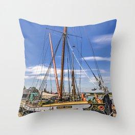 Thames Sailing Barge Throw Pillow