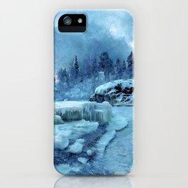 Blue Land iPhone Case