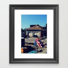Hollywood Disaster Framed Art Print