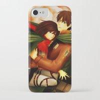 shingeki no kyojin iPhone & iPod Cases featuring Shingeki no Kyojin ~Eren & Mikasa~ by eriboook