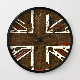 The rusted Union Jack Wall Clock