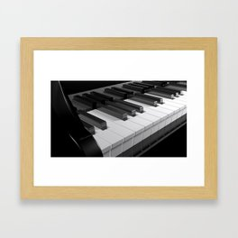 Keyboard of a black piano - 3D rendering Framed Art Print