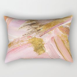 Blush Glitz Rectangular Pillow