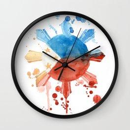 Philippine Flag Art Wall Clock