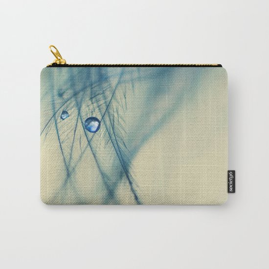 feather blue Carry-All Pouch