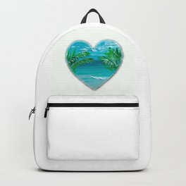 Florida, beach with palms~Ocean Love Backpack