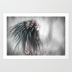 Walking Through Fog Art Print