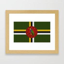 Dominica Flag Framed Art Print