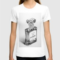 perfume T-shirts featuring Perfume Bottle by Ileana Hunter