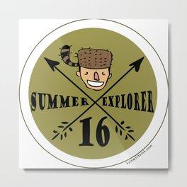 Summer Explorer Badge Metal Print