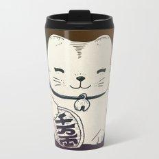 FORTUNE CAT Metal Travel Mug