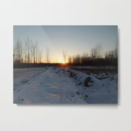 Winter Sunset at Laval - November 21th of 2016 Metal Print