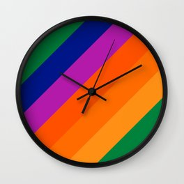 Simple Stripes - Grass Wall Clock