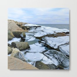 Ocean Ice Metal Print