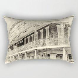 St. Ann & Decatur B&W Rectangular Pillow